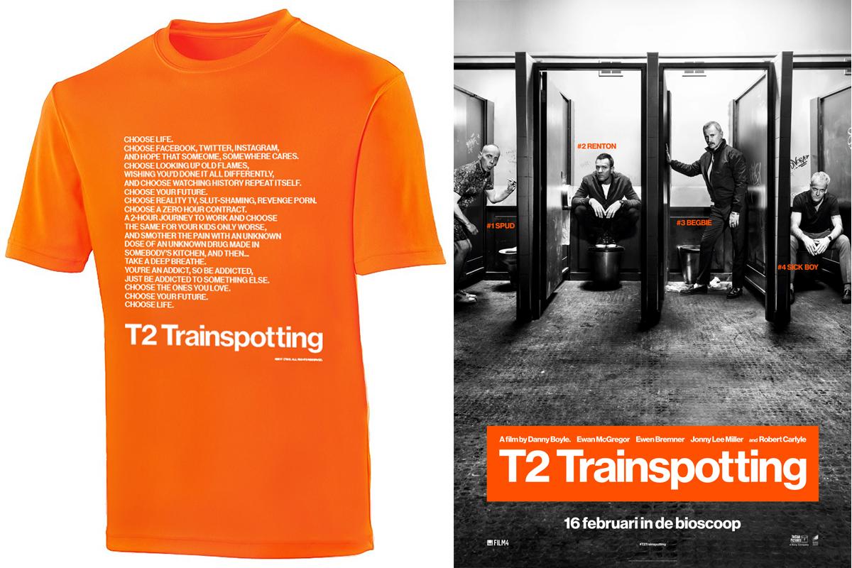 T2 Trainspotting T-shirt en vrijkaarten