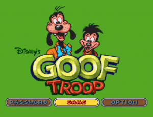Goof Troop title screen