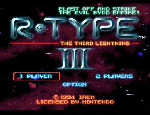 R-Type III title screen