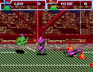 Teenage Mutant Hero Turtles IV Turtles in Time gameplay